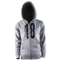 The18 Large Logo Zip Hoodie - Front