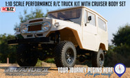 Gelande II Truck KIT Toyota CRUISER HARD Body Set AMAZING Detail & Interior scale FJ40