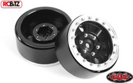 Raceline Monster 1.7 Beadlock Wheels Black wheel Silver ring RC4WD Z-W0201 TOY