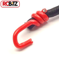 Pair 2 Small Scale Scaler Bungee Cords Tie Securing Straps 130 [Red]
