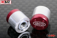 Drive Flange Wheel Nut Cover RC4WD Branded Centre Wheel Hubs Tool required RED