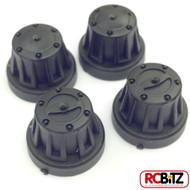 Axial Scale Hub Cover Sets 4pc COLOUR CHOICE AX8079 Fits all SCX10 axles thread[Black AX8079]
