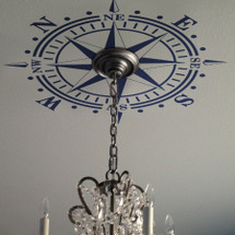 Ceiling Medallion Compass Rose Decal Nautical Decor LARGE