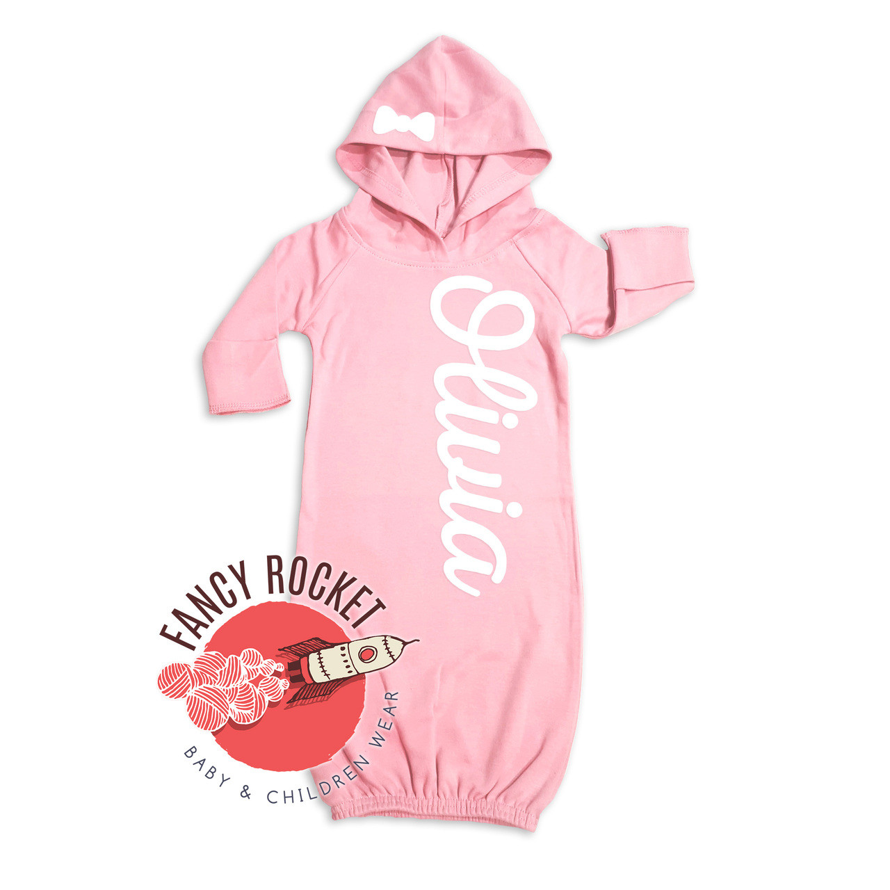 Personalized Baby Gown Newborn Retro Varsity going home Outfit 0-3 ...