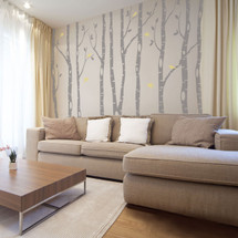 9 river Birch Trees Wall Decal Forest Decor