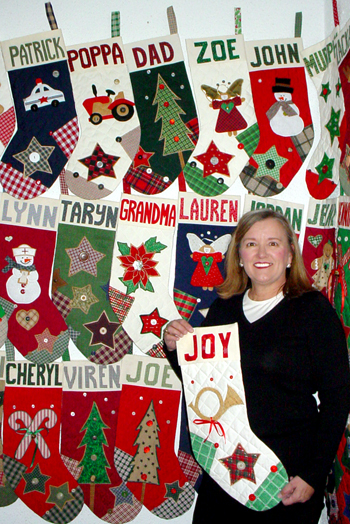 Aunt Joy's Personalized Christmas Stockings