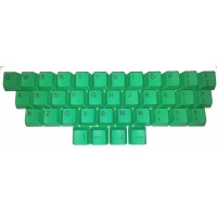 Green 37-key Keycaps, suits Cherry keyswitches, for Filco