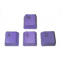 Purple WASD Keycaps, side-printed arrows, suits Cherry keyswitches