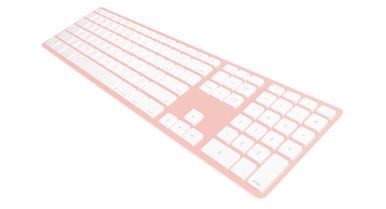 Matias Rose Gold Wireless Aluminium Keyboard, Mac/Win, up to 4x BT