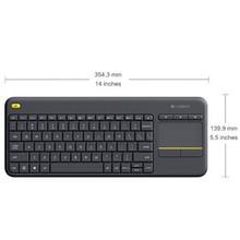 Logitech Wireless Touch Keyboard K400 Plus - Black replaces K400r Blac (920-007165(K400PLUS))