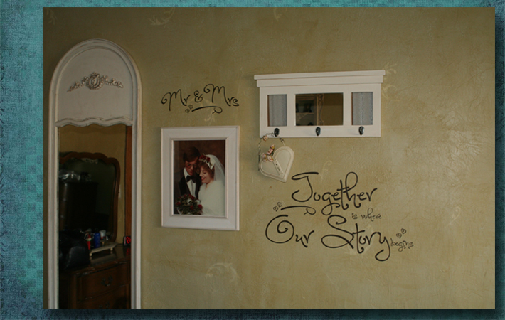 Mr & Mrs Bedroom Wall Decal Sticker Quote
