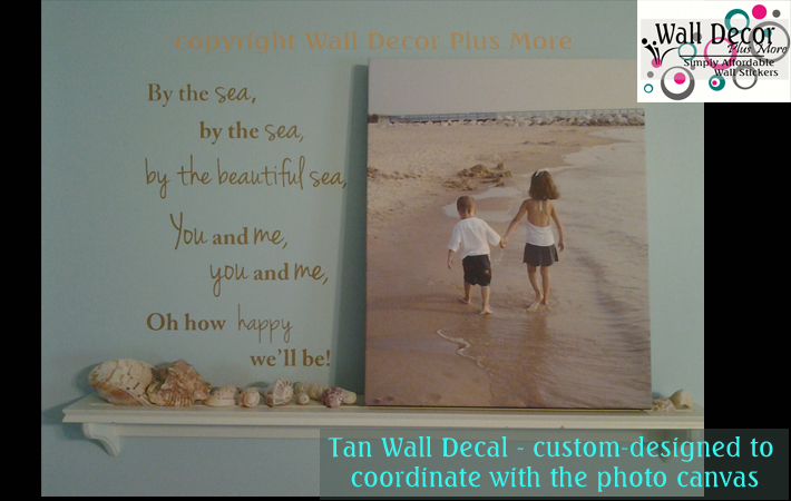 Custom Wall Decal Sea Quote