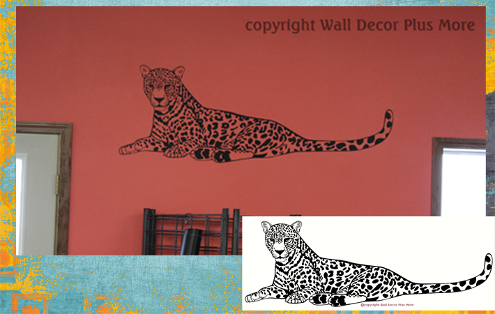 Cheetah Jungle Animal Wall Decal Sticker