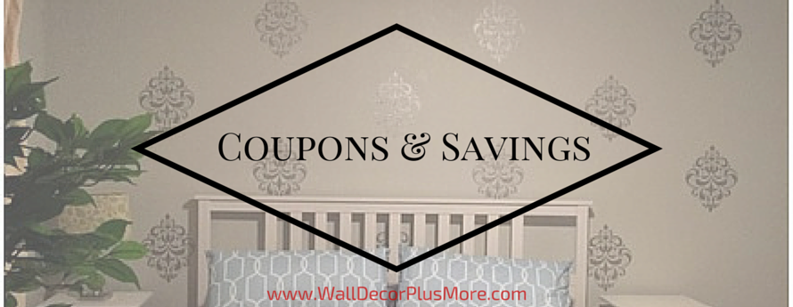 Find the Savings on Wall Decals here
