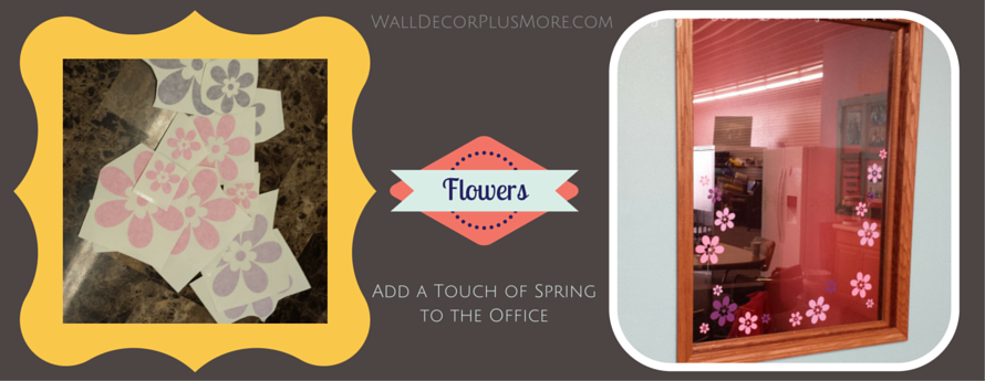 Flower Wall Decals decorate the office for Spring