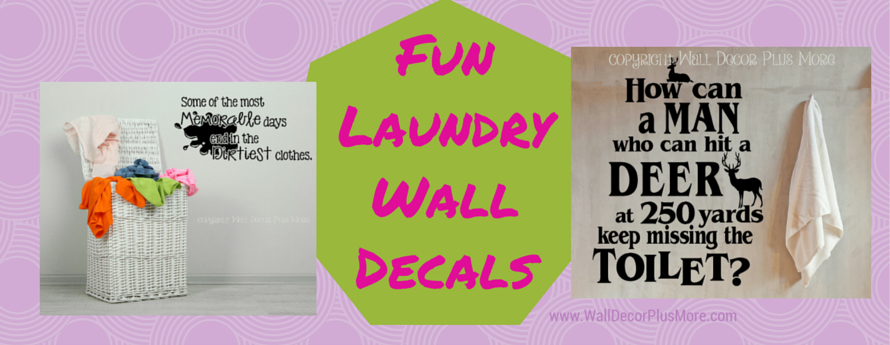 Funny Laundry Wall Decals for the Family Home Decor Vinyl Sticker
