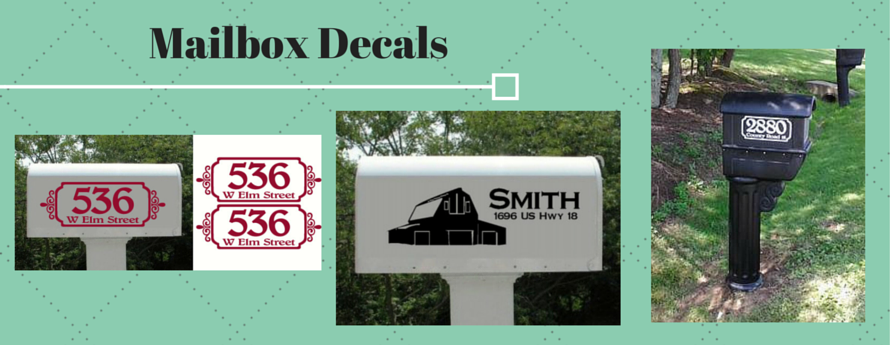 Mailbox Decal Vinyl Sticker Personalized House Number