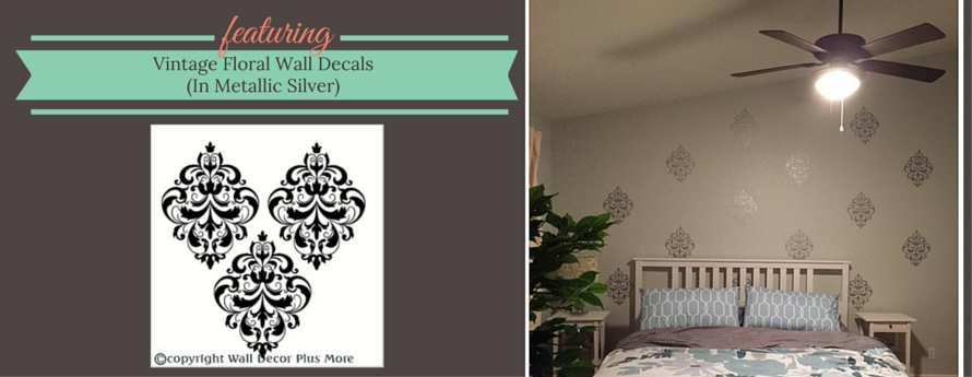 vintage floral medallion wall decals pattern