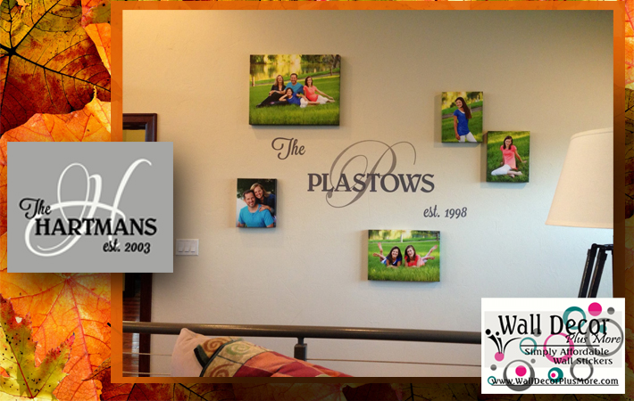 personalized wall decal sticker with last name date gift