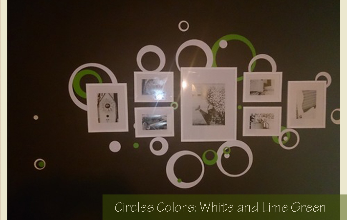 Wall Sticker Circles Rings Dots around Photo frames