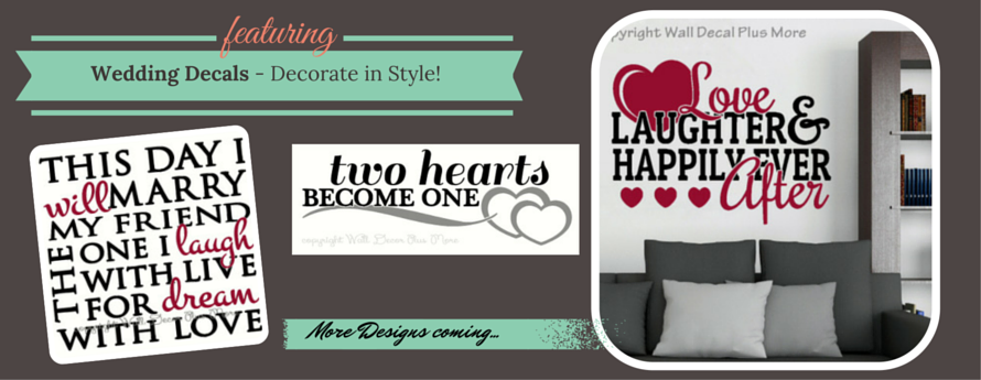 Wedding Decal Stickers Quote Saying Lettering