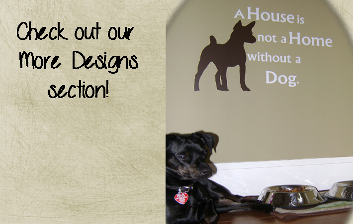More Wall Sticker Design Dogs Custom