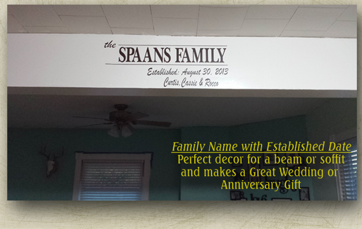 Family Name Date Personalized Wall Stickers