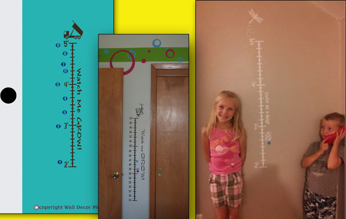 Kids Growth Chart Wall Sticker Personalized Baby Gift