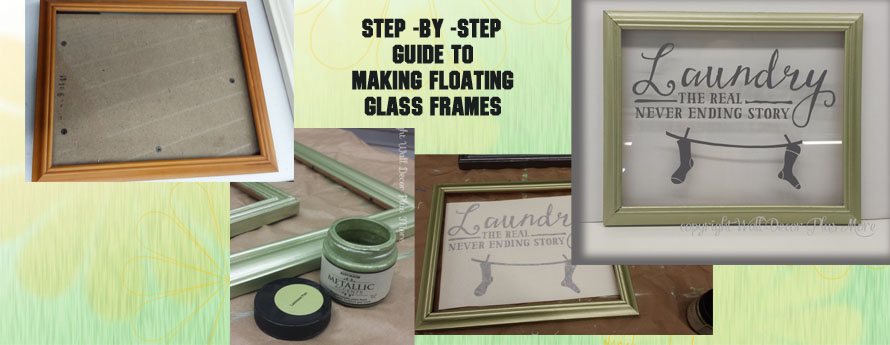 How To Make Floating Glass Frames with Vinyl Decal Stickers