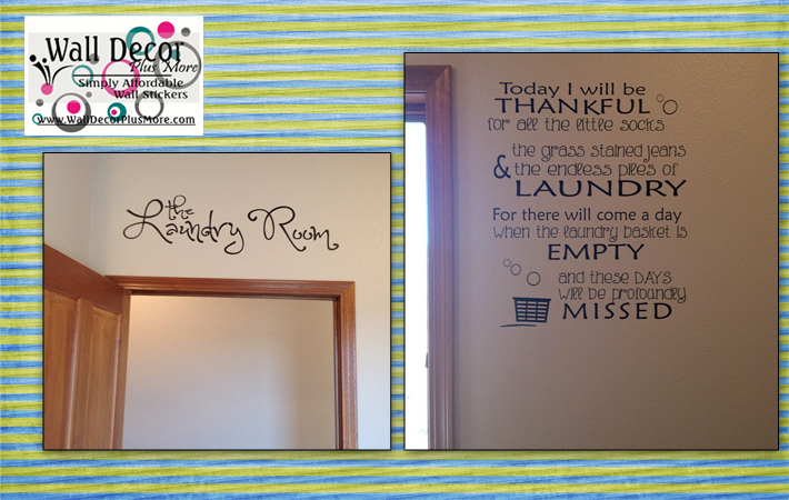 Laundry Room Wall Decal Stickers