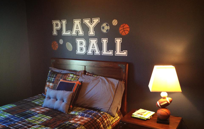 Play Ball Boys Room Wall Sticker