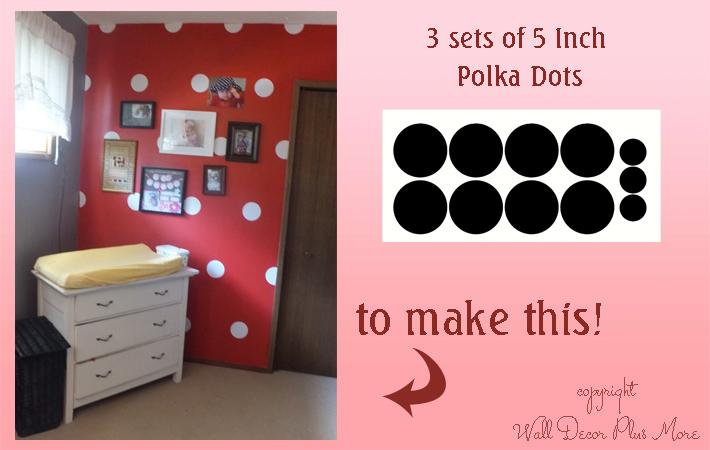 Polka dots in Baby Girls Nursery decor