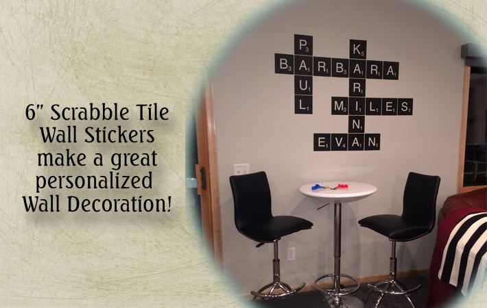 personalized wall sticker scrabble tile names