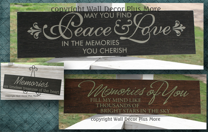 Sympathy Memorial Wall Decal Stickers and Quotes
