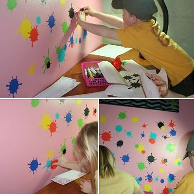 Decorating with wall vinyl room ideas for kids for Preschool wall art ideas
