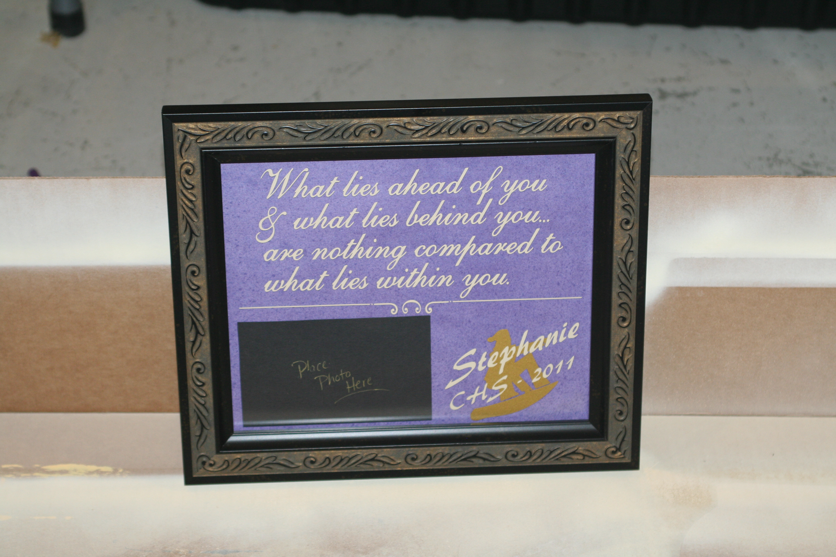 floating glass frame high school graduation personalized gift