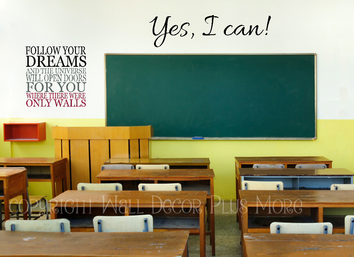 Classroom Decor Vinyl ~ Teachers here are wall decal quotes perfect for your