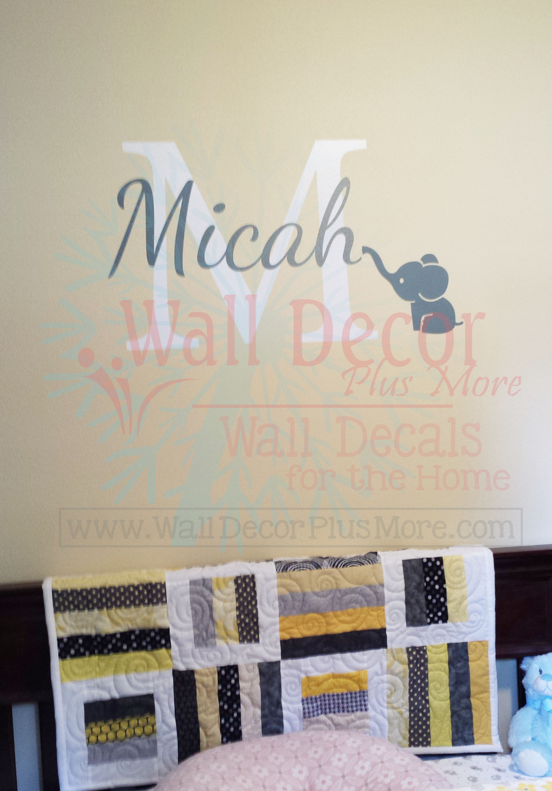 micah-wall-decal-stickers-name-letter-with-elephant-white-letter-storm-gray-name.jpg