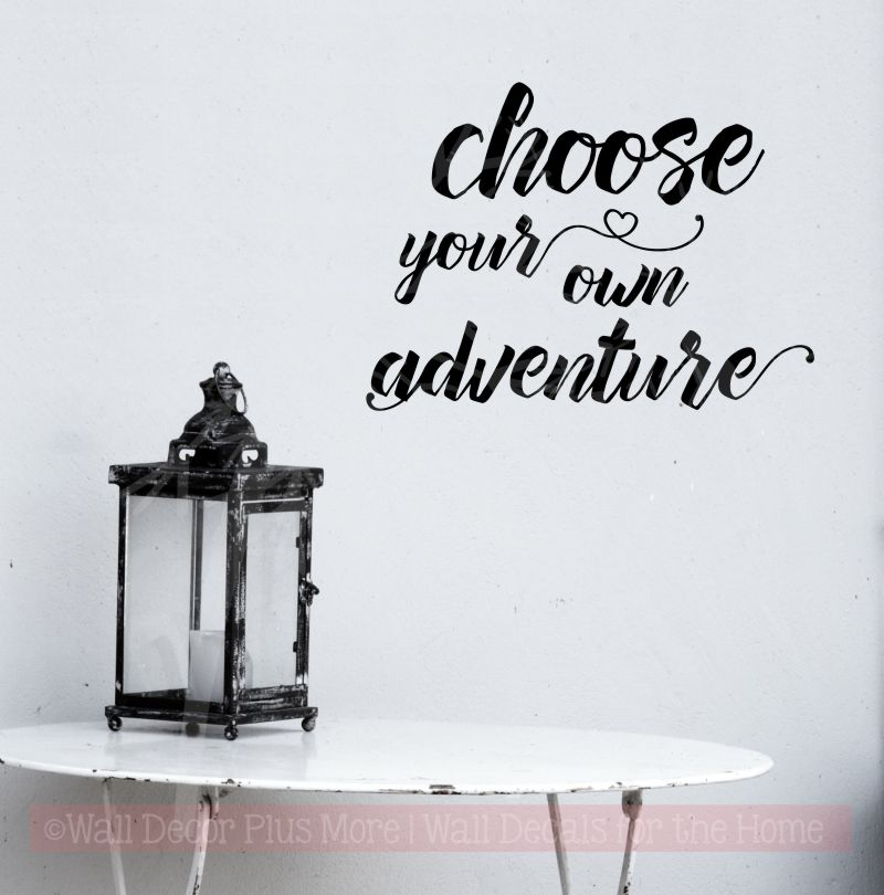 Choose Your Own Adventure Wall Decal Stickers