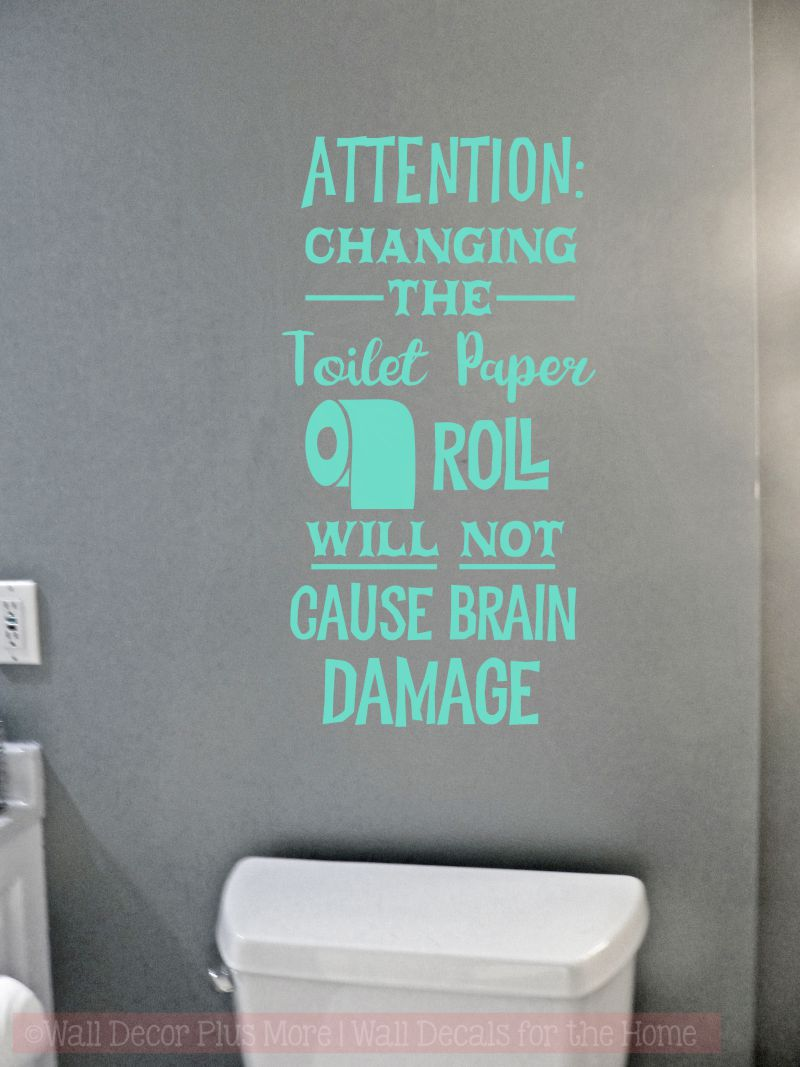 Toilet Paper Roll Humor Bathroom Wall Decal Stickers