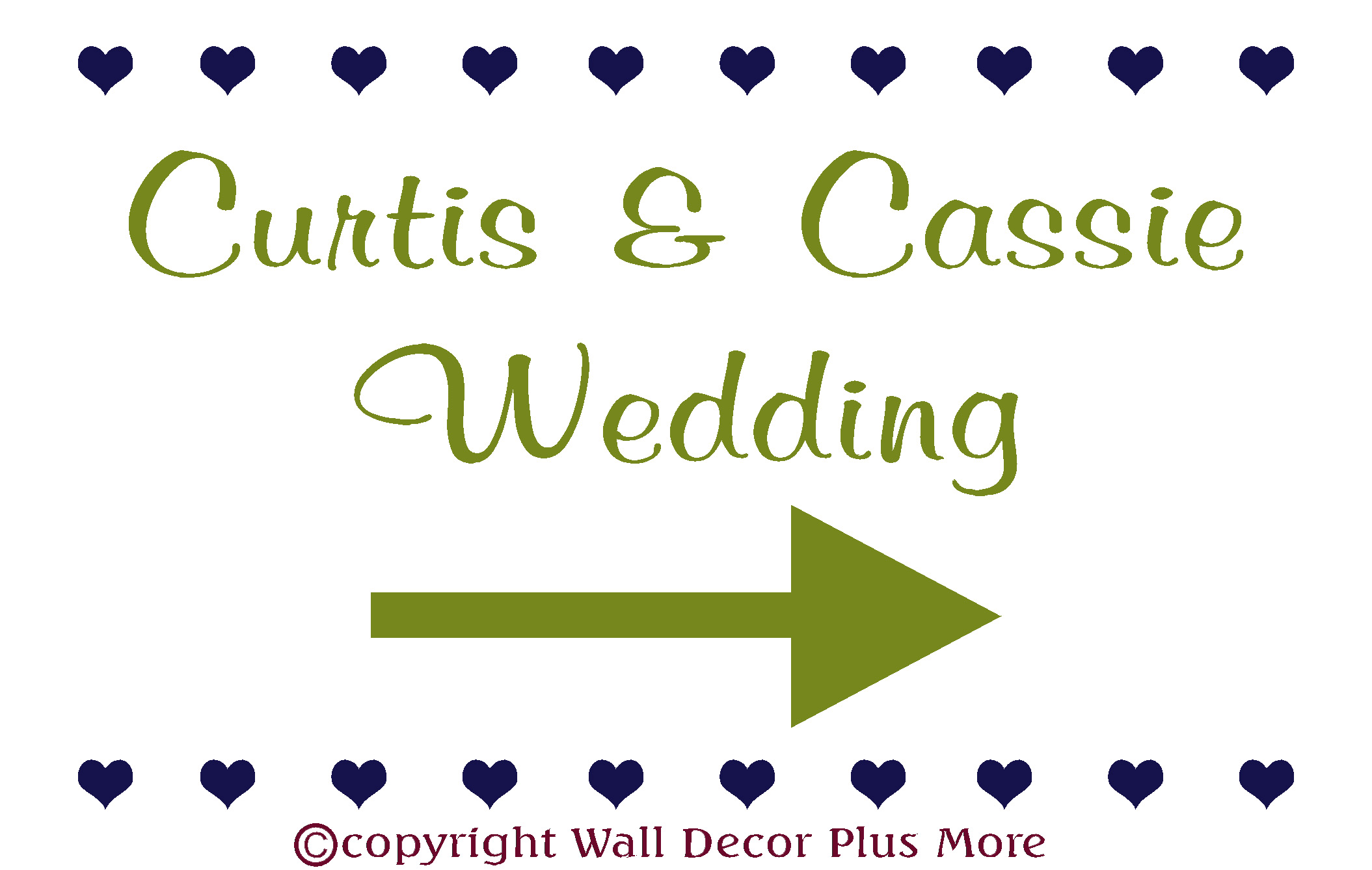 Wed11 Custom Wedding Vinyl Stickers for Road Sign