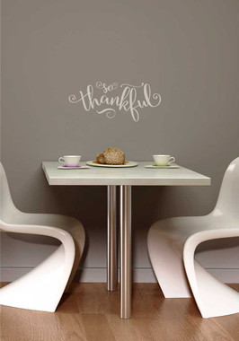 So Thankful Elegant Vinyl Wall Decals Lettering For The Home - Wall stickers for dining roomdining room wall stickers home design ideas