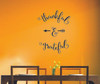 Thankful and Grateful Vinyl Wall Decal Sticker with Arrow Design-Black