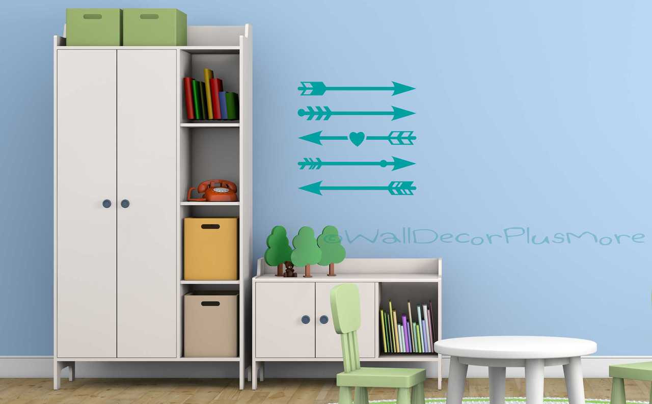 Arrow Vinyl Wall Decals Stickers Assorted Designs Set Of 5 # Meuble Armoire Et Bahiou En Bois