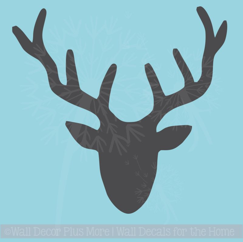 Deer Head Silhouette Vinyl Wall Decal Sticker Graphic