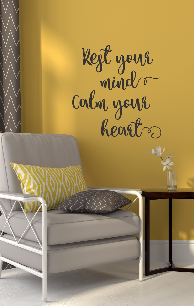 Encouraging Home Decor Vinyl Wall Decals Rest