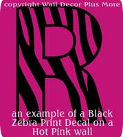 Zebra Print Die Cut Decal Wall Décor Sticker