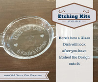 Monogram Decals Vinyl Sticker Custom Stencil Letter for Etching on 9x13 Glass Dish
