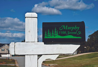 Personalized Vinyl Mailbox Decals with Name Address and Forest Silhouette