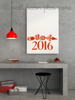 Class of 2016 Wall Art Vinyl Decal Stickers for Graduates